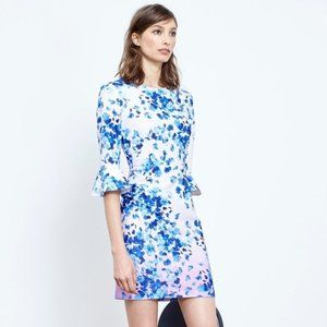 Donna Morgan Ombre Floral Bell Sleeve Sheath Dress